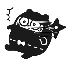 Ninja Bear Stickers 2