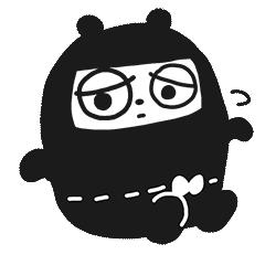 Ninja Bear Stickers 9