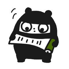 Ninja Bear Stickers 12