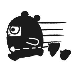 Ninja Bear Stickers 13