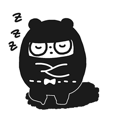 Ninja Bear Stickers 15