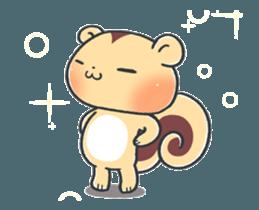 The cute child squirrel