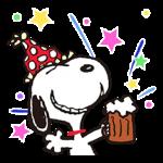 Merveilleux autocollants d'hiver Snoopy 1