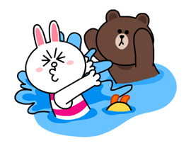 LINE Characters - Happy Vacations Stickers 1