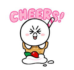 LINE Characters: Cute and Soft Summer Stickers 10