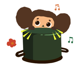 Stickers Cheburashka 10