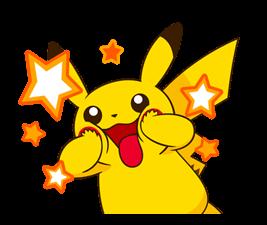 Pikachu สติ๊กเกอร์♪ 23