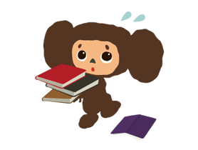 Stickers Cheburashka 11