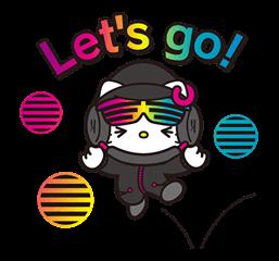DJ Hello Kitty的贴纸 13