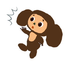 Stickers Cheburashka 12