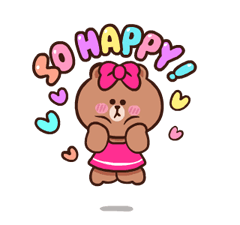 LINE Characters: Pretty Phrases Stickers 14