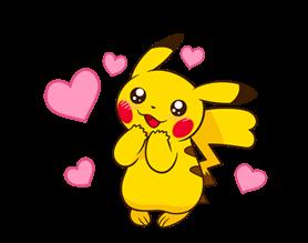 Pikachu สติ๊กเกอร์♪ 1