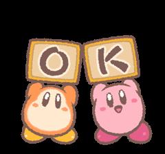 Kirby's Puffball Sticker Set 16