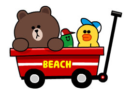 LINE Characters - Happy Vacations Stickers 17