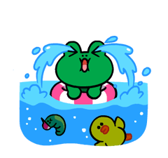 LINE Characters: Cute and Soft Summer Stickers 17