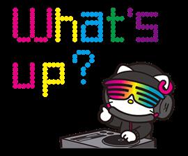 DJ Hello Kitty Stickers
