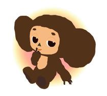Stickers Cheburashka 18