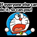 Doraemon en Atasözleri Çıkartma 2