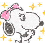 Cute Crayon Snoopy Stickers 2