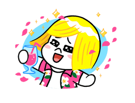 LINE Characters: Cute and Soft Summer Stickers 2