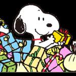 Merveilleux autocollants d'hiver Snoopy 2