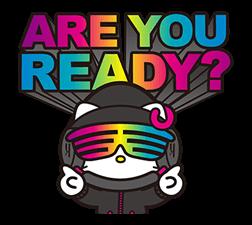 DJ Hello Kitty的贴纸 2
