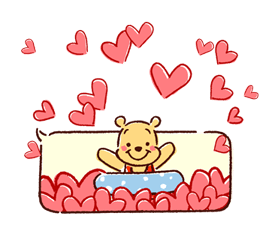 Winnie the Pooh Μπαλόνια Αυτοκόλλητα Ομιλία 20
