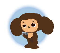 Stickers Cheburashka 19
