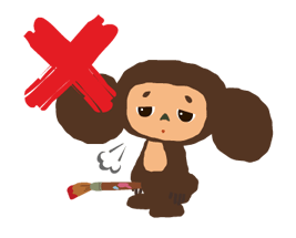 Stickers Cheburashka 21