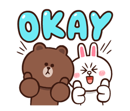 LINE Characters: Pretty Phrases Stickers 23