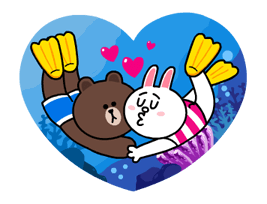 LINE Characters - Happy Vacations Stickers 23