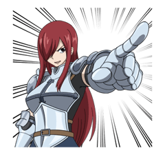 FAIRY TAIL Action Stickers! 23