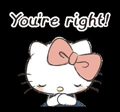 Hello Kitty Polite Stickers 24