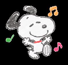 Χαριτωμένο Αυτοκόλλητα Crayon Snoopy