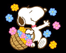 Σούπερ Spring Snoopy Αυτοκόλλητα