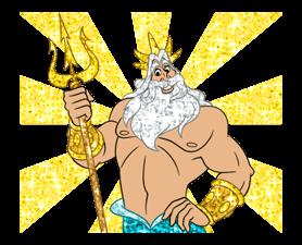 Den lilla sjöjungfrun Sparkling Klistermärken 24