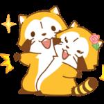Rascal et Lily: Les ratons laveurs dans l'amour Autocollants 3