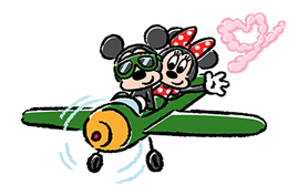 Lovely Mickey and Minnie Stickers 3