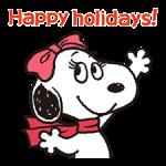 Merveilleux autocollants d'hiver Snoopy 3