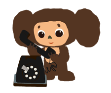 Stickers Cheburashka 2