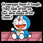 Doraemon en Atasözleri Çıkartma 4