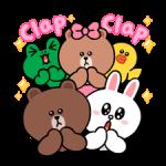 LINE karakterek: Aranyos és puha matricák 4