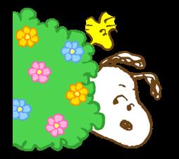 Super jarní Snoopy Nálepky 4