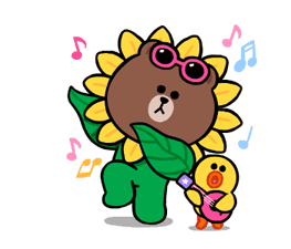 LINE Characters: Cute and Soft Summer Stickers 4