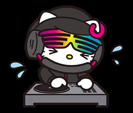 DJ Hello Kitty的贴纸 4