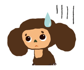 Stickers Cheburashka 3
