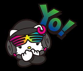 DJ Hello Kitty的贴纸 5