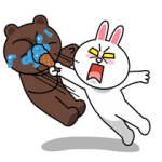 Brown & Cony des Thrilling Datums-Aufkleber 5