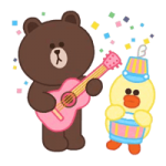 LINE Characters: Pastel Cuties Stickers 5