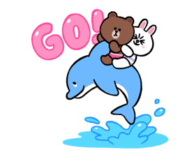 LINE Characters: Cute and Soft Summer Stickers 6